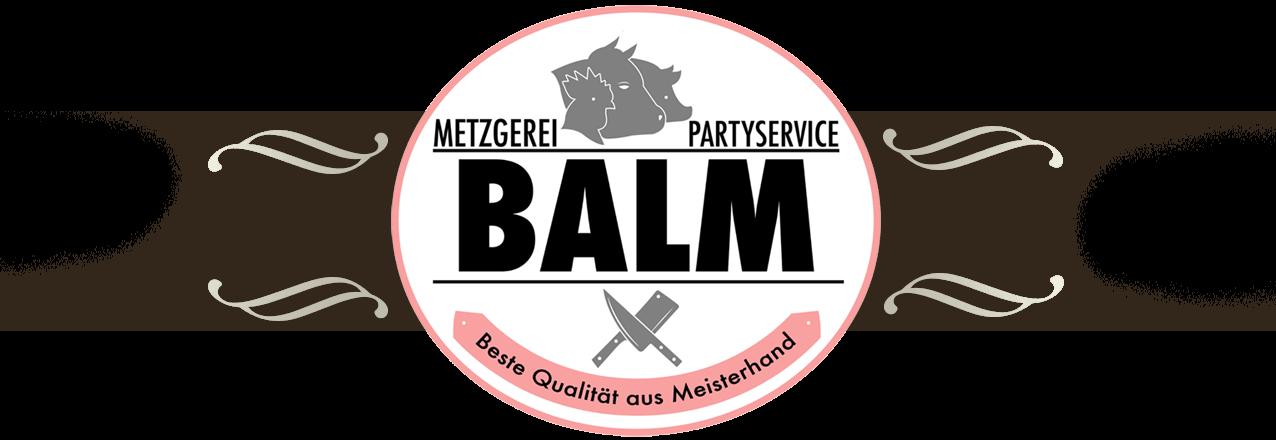 Metzgerei Balm Logo Startseite Slider